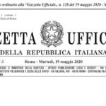 Supplemento Ordinario n. 21/L alla Gazzetta Ufficiale Serie generale - n. 12819 del 19 maggio 2020.