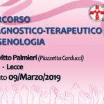 """""""Percorso diagnostico terapeutico in senologia"""". Lecce 09 marzo 2019. Assegnati 8 (otto) crediti ECM per tutte le Professioni Sanitarie."""