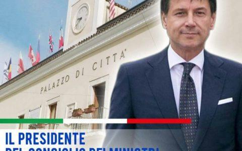 Il premier Conte in visita a San Giovanni Rotondo (Fg).