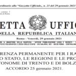 Accordo, ai sensi dell'articolo 4, comma 1, del decreto legislativo 28 agosto 1997, n. 281, sul documento «Piano strategico-operativo nazionale di preparazione e risposta a una pandemia influenzale (PanFlu 2021-2023)».