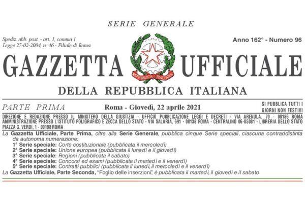 """In Gazzetta Ufficiale n. 96 del 22 aprile 2021 è pubblicato il Decreto-Legge 22 aprile 2021, n. 52: """"Decreto riaperture""""."""