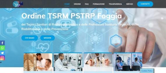Nuovo sito dell'Ordine Tsrm e Pstrp della Provincia di Foggia.