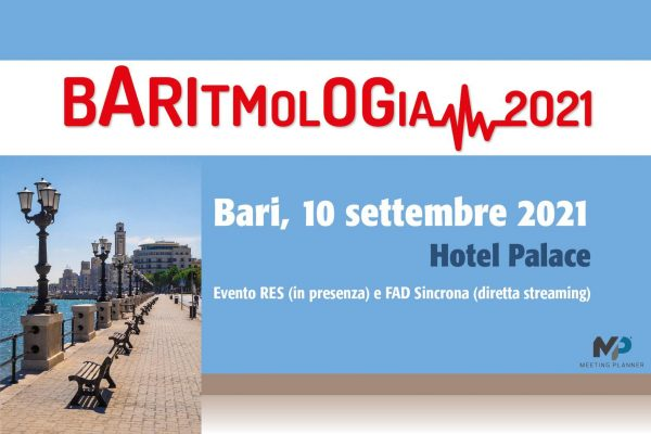 """Evento formativo gratuito: """"Baritmologia 2021"""". 10 Settembre 2021 Hotel Palace di Bari."""